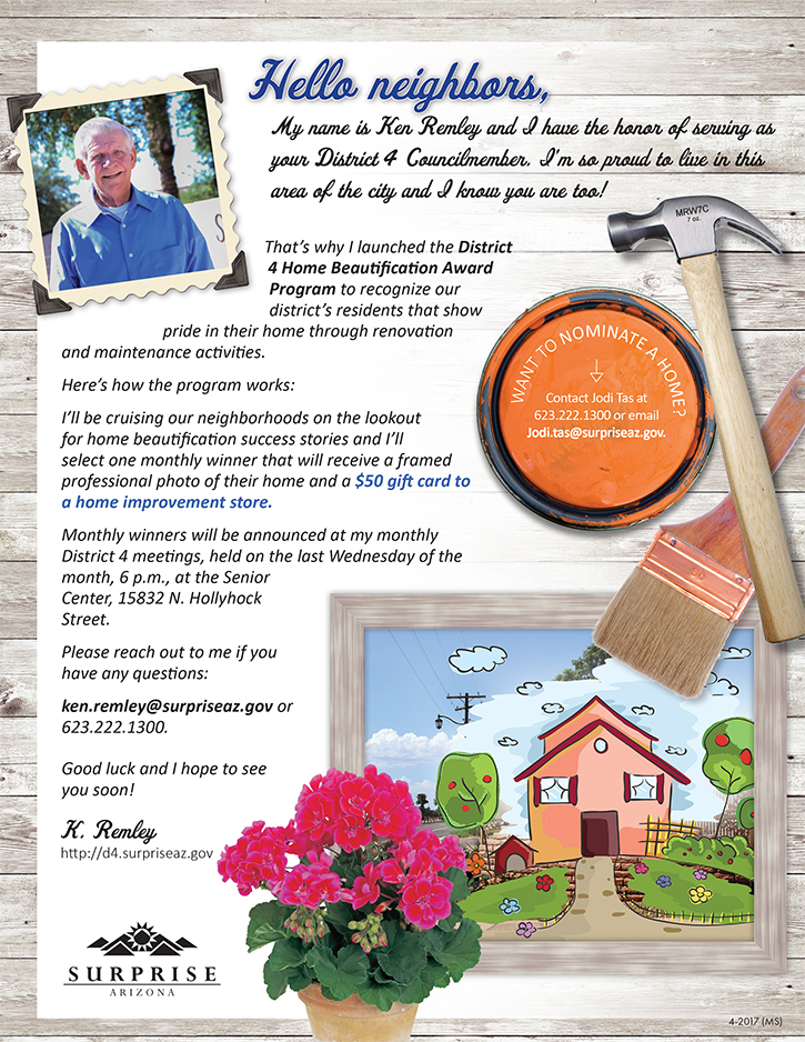 D4 Home Beautification Award Program Flyer