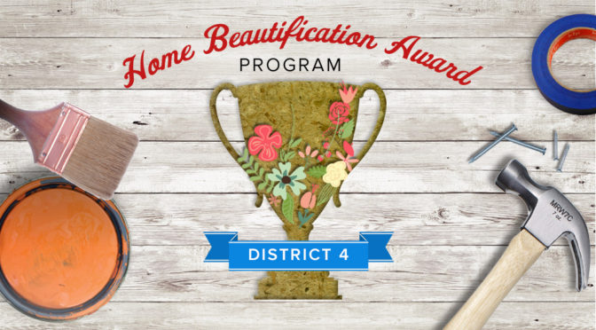 Nominate a neighbor for the Home Beautification Award