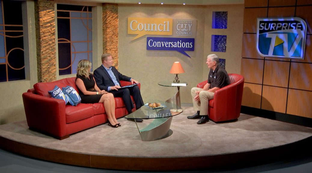 image of Councilman Remley seated with guests on set of Council Conversations show