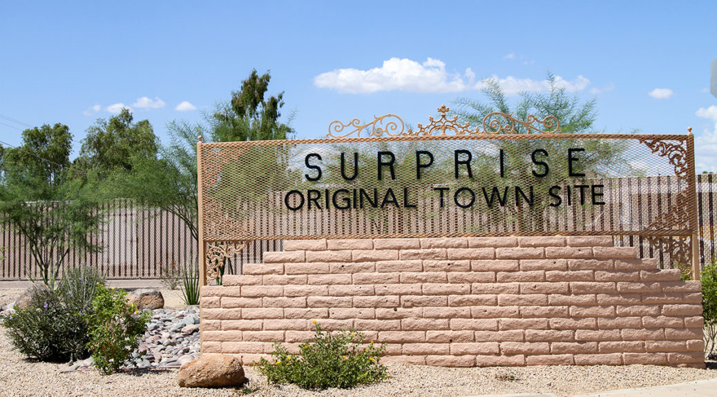 Original Town Site (OTS) sign