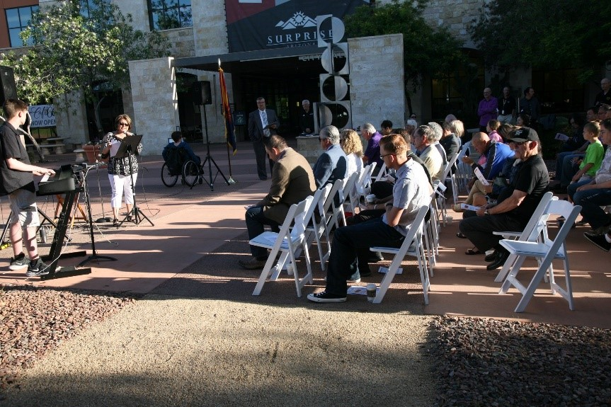 Guests attend National Day of Prayer outside City Hall