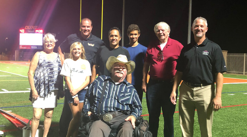 City Councilmembers attend a Saturday night Ottawa University football game.