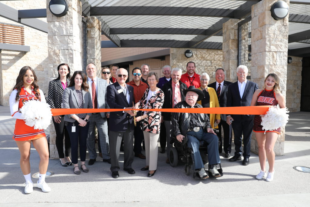 An orange ribbon is cut during the grand opening event of Ottawa's O'Dell Center.