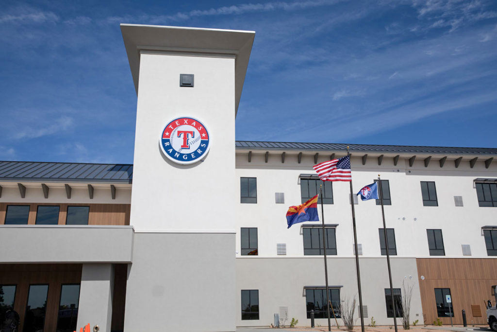 The Texas Rangers housing building.