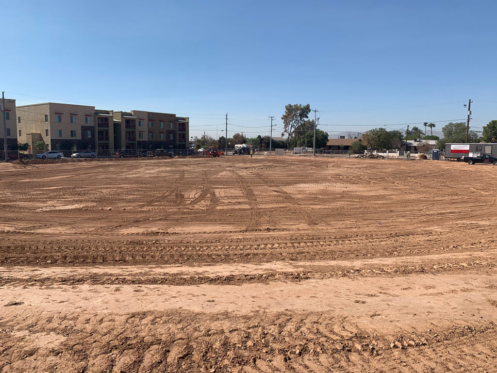Gaines Park Ball Field construction site.