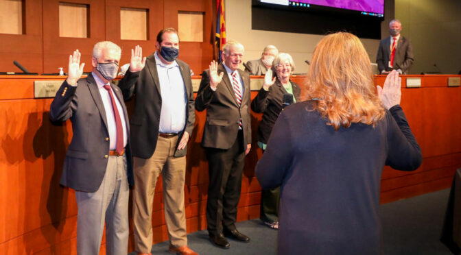 Mayor and Councilmembers in Districts 2, 3 & 4 sworn in