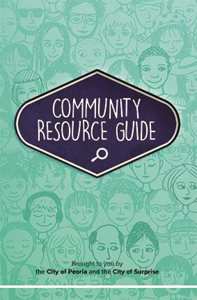 The front cover of the Surprise Community Resource Guide.