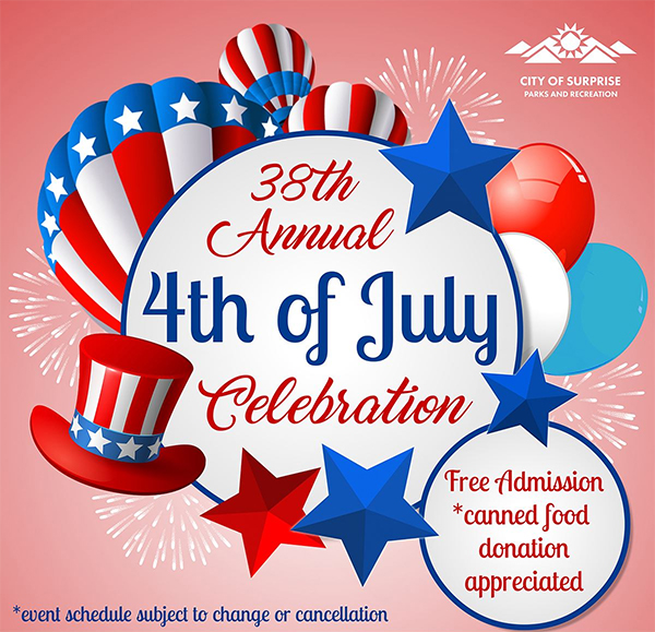38th annual 4th of July celebration flyer