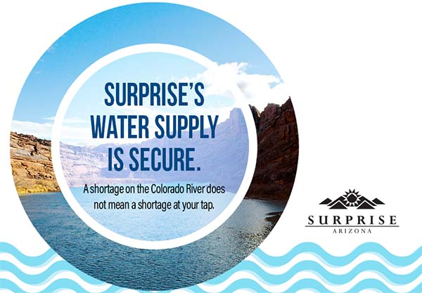 Surprise's Water Supply is Secure.